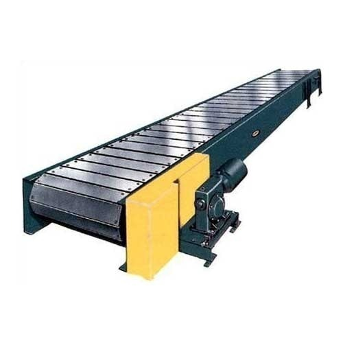 Slat Conveyors  With the help of our expert team member, we have been able to offer a wide assortment of Slat Conveyors. These are sturdily constructed using best available technologies and following world class standard. Our conveyors are one of the most preferred selections of clients owing to its effectiveness and high performance. These are resistant to corrosion and available with us in all standard and technical specifications.   Features:    High performance Most reasonable prices Effectiveness