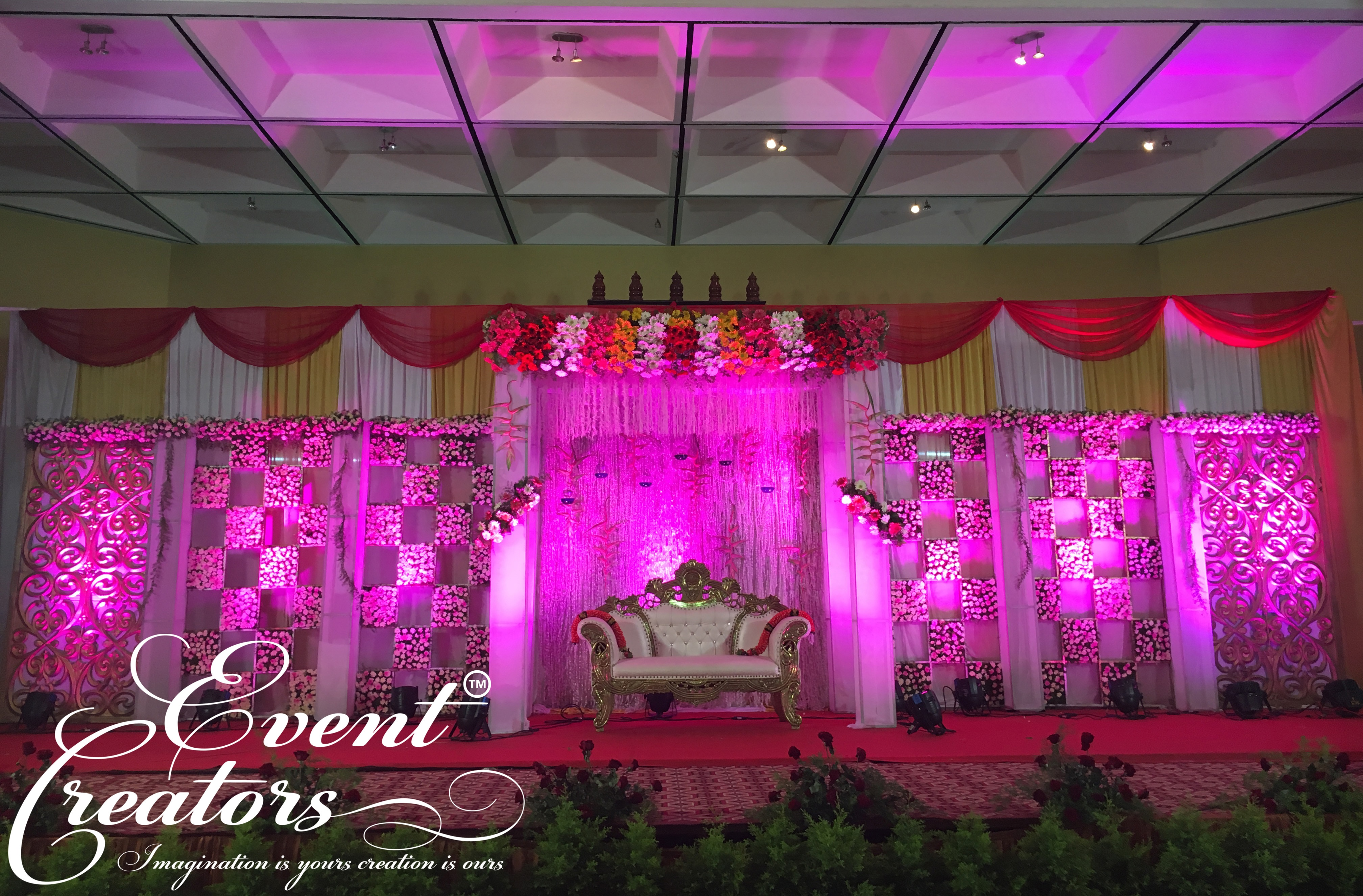 Event Creators...Back to Social....!!! #Busy_Schedule. #Continuous_Events. #New_Stages. #Busy_Workers. & Now, Its Show time. A gorgeous theme filled with flowers & colorful lighting's gave the feel of heaven(words from our clients)...
