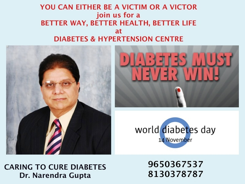 Diabetes is a silent vascular disease that kills. With diabetes it is all about prevention, prevention and prevention. If taken care of well it can provide for an amazing future. Take charge of your life and prevent complications !! Best Diabetes Doctor in India. Best Diabetes doctor in Delhi. Best diabetes doctor in Gurgaon