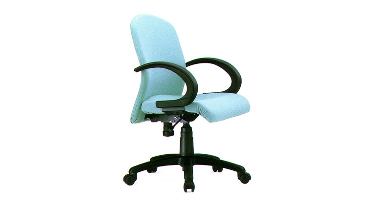 Office Chair Manufacturer. We Accurate Seating Systems manufacturing of all type office chair Workstation Chair:Model: Flexi medium back revolving chair with push back mechanism, fixed pp arm rest, nylon base and gas lift.