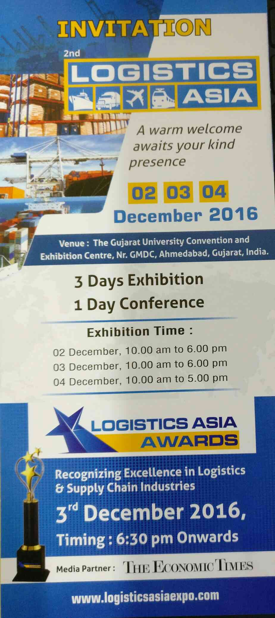 Caterpillar Cargo Co Sponsor for 2nd Logistics Asia at Ahmedabad..  Please do visit us @E 3 //Hall No 1..  Contact us +91 76000 46680 n 76000 46689