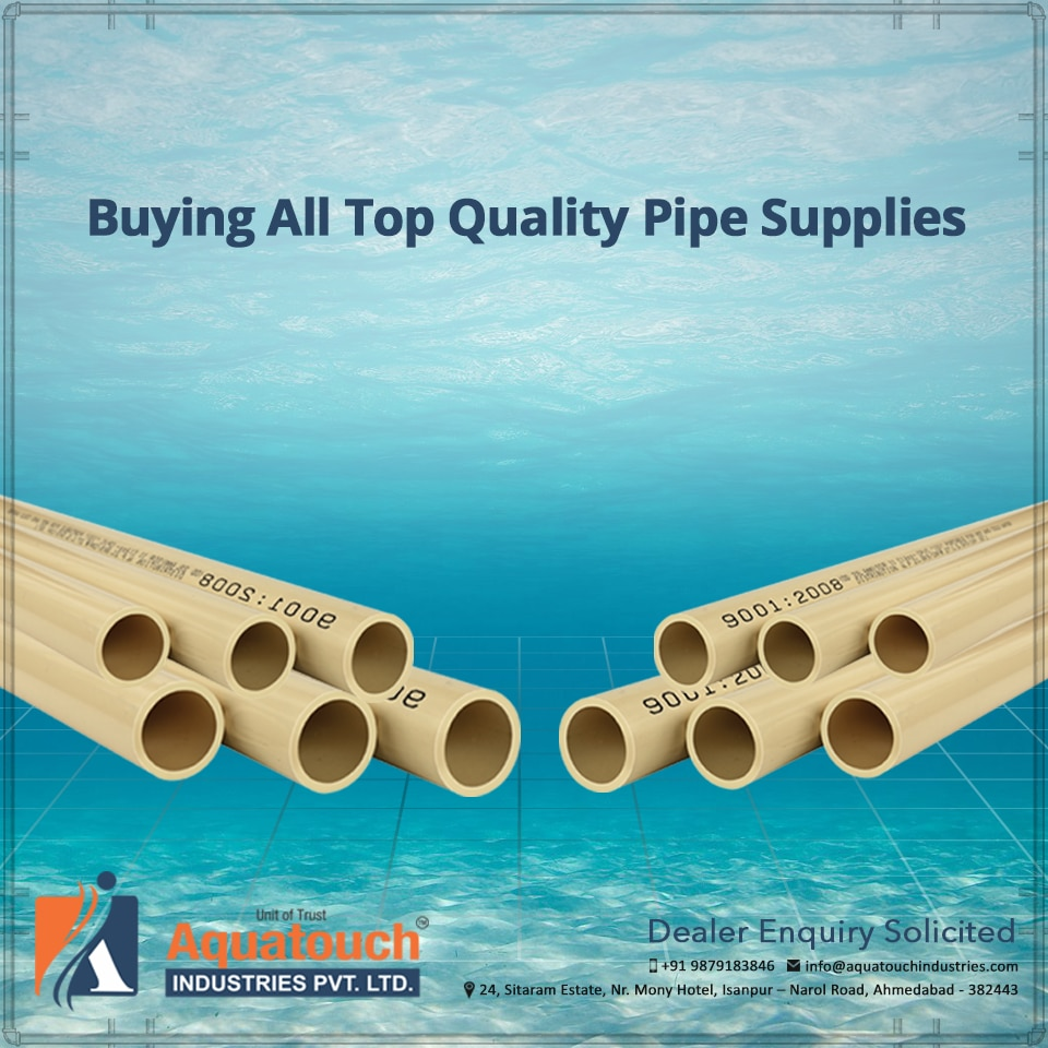 Buying All Top Quality Pipe Supplies  When you need premium quality pipes for your construction purposes, contact AquaTouch Industries. We are one of the top pipe manufacturers and have a wide selection of PVC options, such as tank nipples, unions and much more. We are ready to help you with the best of supplies as we are indeed a steady and dependable pipe supplier for all of your needs.  #Pipe-Manufacturers-in-Gujarat #Pipe-Supplier-in-gujarat #PVC-Pipes-Manufacturers #upvc-fittings-manufacturers-in-Gujarat #Pipe-fittings-manufacturers-in-india #Upvc-Pipes-Manufacturers-in-india #Best-Pipe-Manufacturers-in-Gujarat #Best-upvc-fittings-manufacturers-in-Gujarat #Best-Upvc-Pipes-Manufacturers-in-india #Upvc-water-pipe-Manufacturers-in-Gujarat  M+91 9904805580