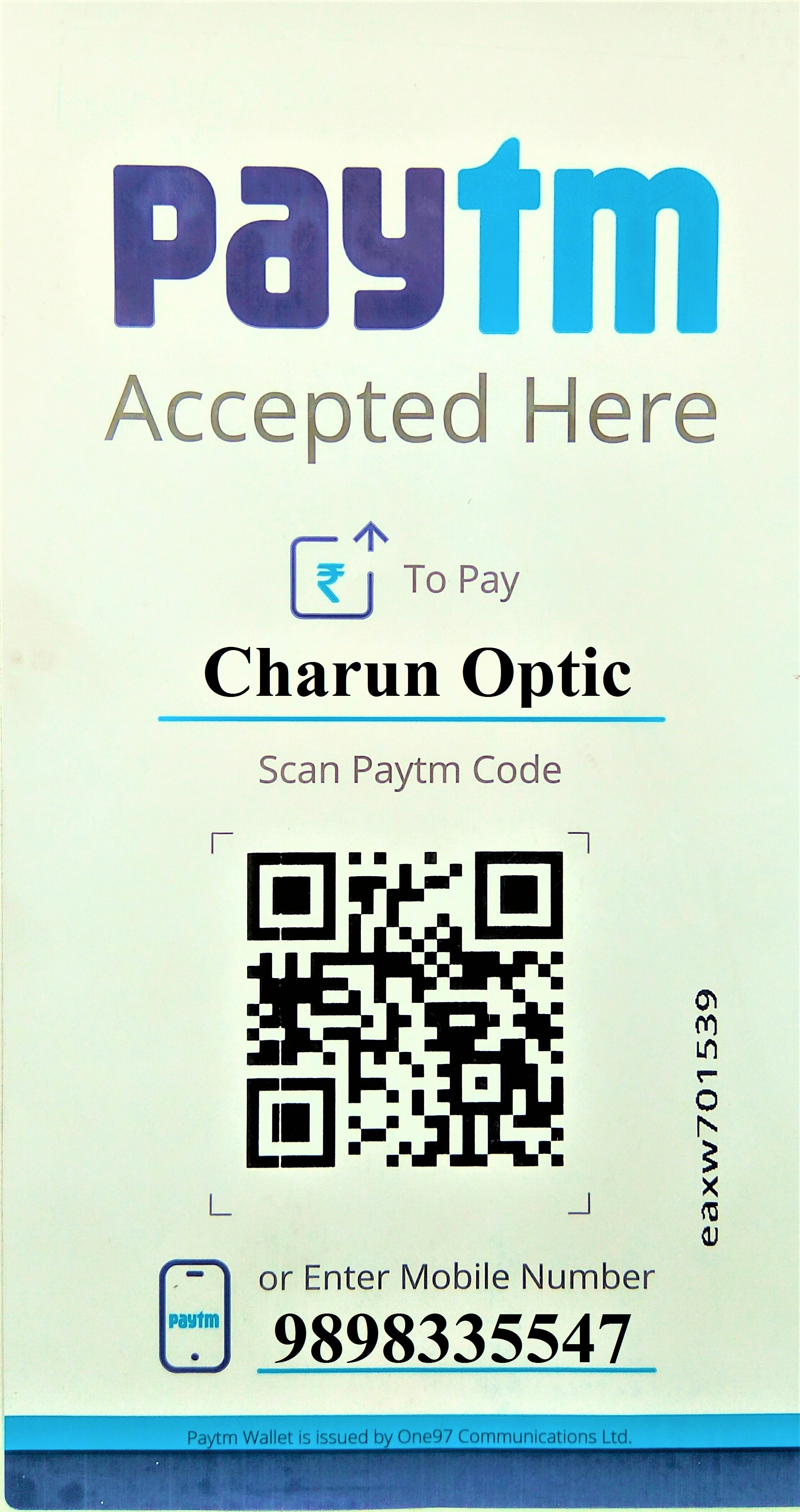 PAYTM Karo @ Charun Optic  Paytm is now Partner with Us We Accept the payment through Paytm Both Online & Offline  Customers Just tap Pay or send button 1) Scan Our QR Code, enter amount & Pay. OR 2) Enter Our mobile number, enter amount & Pay.   #charunoptic #paytm #paytmkaro #onlinepayments #digitalization #scanpay #optician #sunglasses #eyeglasses #opticalstoreacceptingpaytm #opticianacceptingpaytm #ahmedabad #paytmstore #pay #scan #qrcode #firstopticiantoacceptpaytminahmedabad #instagram #facebook #qrcodepayments #shopping #shop   C   O Charun Optic For Orders Call / Whatsapp +919898335547 Find Us @ All Social Media www.charunoptic.com Shop Online @ shop.charunoptic.com