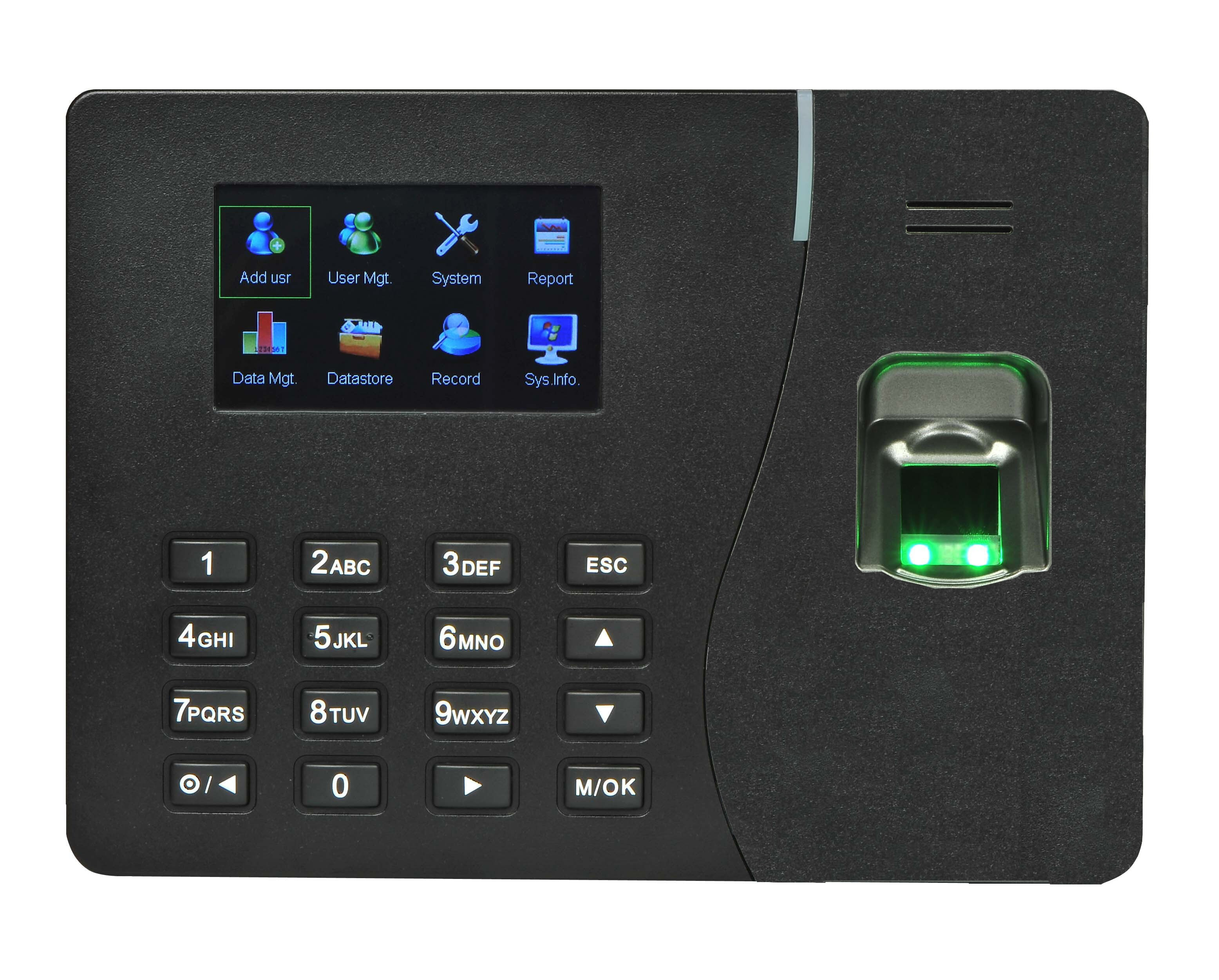 Fingerprint Attendance System  Description Keep track of who enters and exits your home or office with V23 fingerprint attendance machine.  It is a feature-rich biometric system that is equipped with various innovative technologies that helps you track and record every entry and exit of authorised individuals and thus keep a tab on attendance. This biometric system has a huge storage capacity and in comparison to its high demand, it comes at an affordable price. Its CPU is powerful. It has a clear display and uses advanced technology. The  biometric system definitely strengthens the safety and security be it home or your workplace. This immensely useful system is battery operated and therefore, can function even during power cuts. Storage Capacity   The biometric system has an excellent memory capacity. The device can store up to 500 fingerprint templates and has a transaction storage capacity of almost 50000 Logs. It also has a card reader which again adds to its storage capacity.   Audio/Visual This V23 biometric system has 7.1 cm (2.8) TFT colour display. The system has 5 function keys. There are also red or green LED indicators along with mini speakers that help in the recognition of the fingerprints.   Communication Its communication features are USB, TCP/IP, and optional features like GPRS, Wi-Fi, and GPRS+ GPS. It uses various other features to communicate as well.   Power and Environment It requires a power supply of DC 5 V, 1 Amp. The operating temperature of this device ranges from 0 to 45 degrees Celsius. And the operating humidity ranges from 20 to 80 per cent.   Access Control It is equipped with different access control features like 5V relay for various locks, support fire alarm, door-bell, door sensor, anti-pass back and others.   Compatibility V23 Biometric System is compatible with software and SDK Major Applications V23 is not only useful at home and shops but also at various other places like schools and colleges for attendance purposes. It can be used at pubs and clubs to keep a track of the crowd that comes in and goes out.