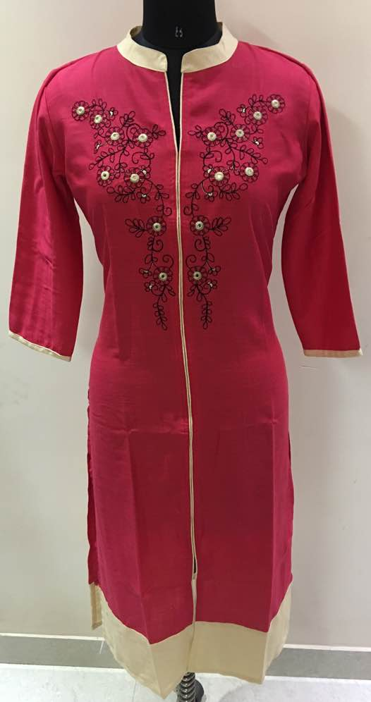 Manufacturers of Kurtis and cotton rayon embroidery selfie kurtis type kurtis in jaipur india we use very high quality rayon slub and cotton slub with fast colors in vibrant designs for daily and party wear use.