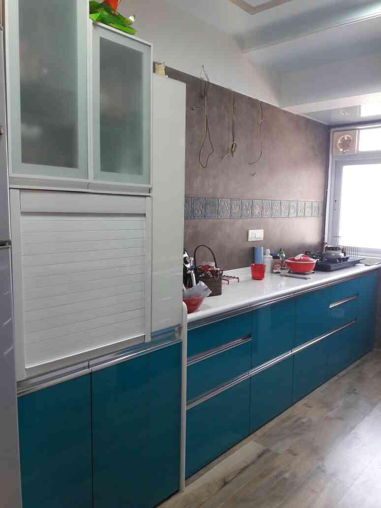 Acrylic Shutter Kitchen from Xena Design Thane