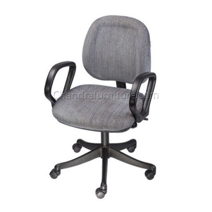 GeeKen presents a fine and classy chair for your daily requirements. Its strong and long lasting construction makes it ideal for longer use and apt for all types of users.  With a sleek and elegant design, this chair not only offers ease of use with stylish looks, but also provides functionality and durablity.  Product Details GB 409-A: Low Back Chair, PU Arms, Nylon Base, Gas Lift, PU Moulded Seat & Back Cushion,  PP Seat & Back Cover, Fabric Tapestry  Office Furniture Jaipur Modular Furniture Chandra Furniture Jaipur/Jodhpur http://chandrafurniture.com/
