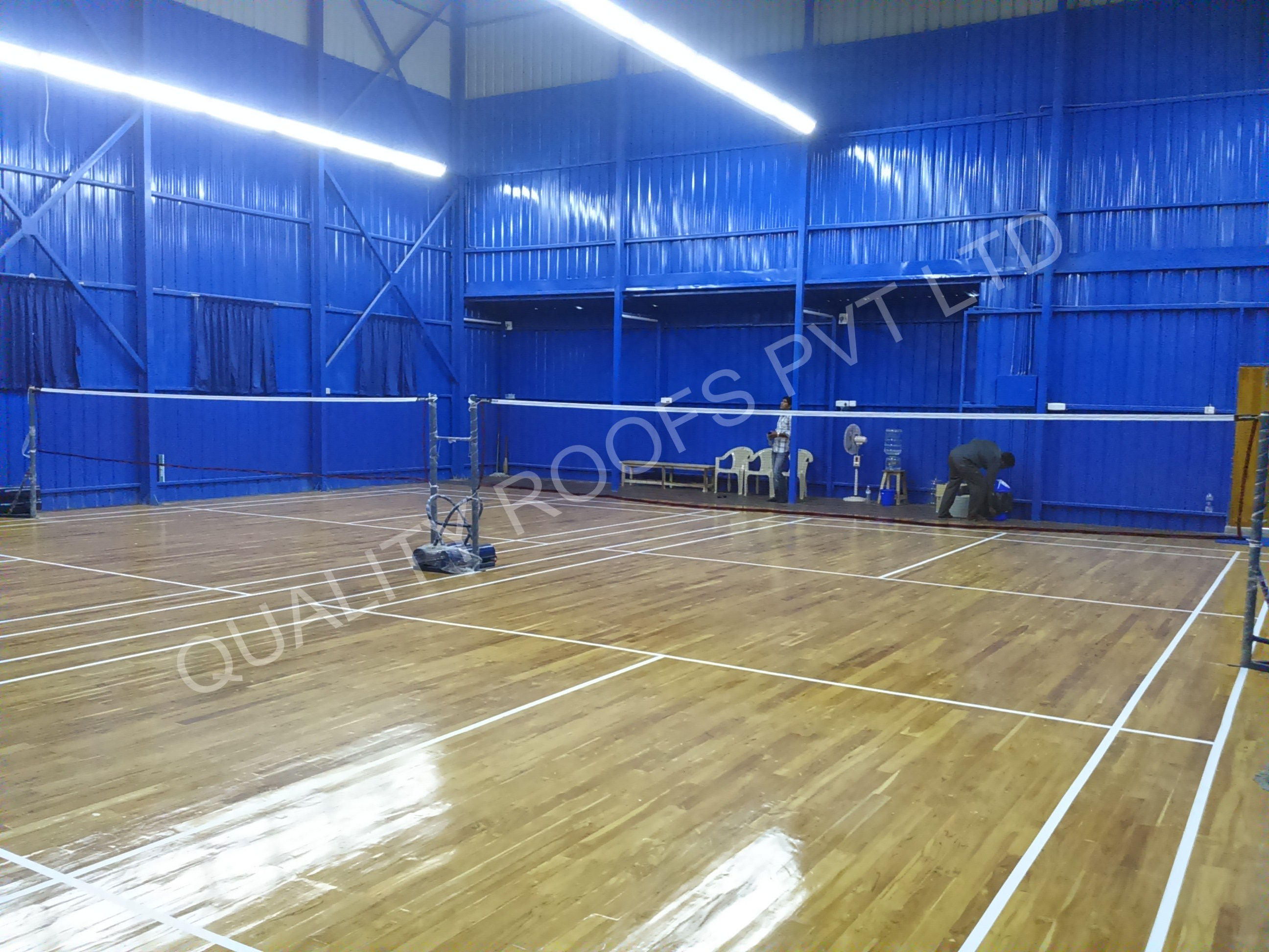 Badminton Roofing Contractors In Chennai                    We are the leading Badminton Roofing Contractors In Chennai. We offer Badminton Court Roofing Shed.These sheds are made using steel structures and roofing sheets for play ground. We can alternate into our required sheds after some years. These products are available according to client's requirements.  Hence there is always expansion of the client base. It is with great pride that the best roofing companies in Chennai claim about having won the total satisfaction of their clients because of the quality and honesty with which they work. The ever changing demand of the market is always kept in focus.