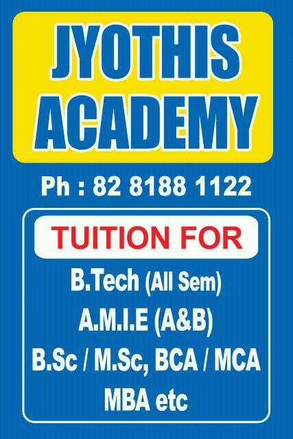 Amie/B Tech All Branches, All Semester & All Universities tuitions are available At kochi & kottayam call 8281881122, 8281882211