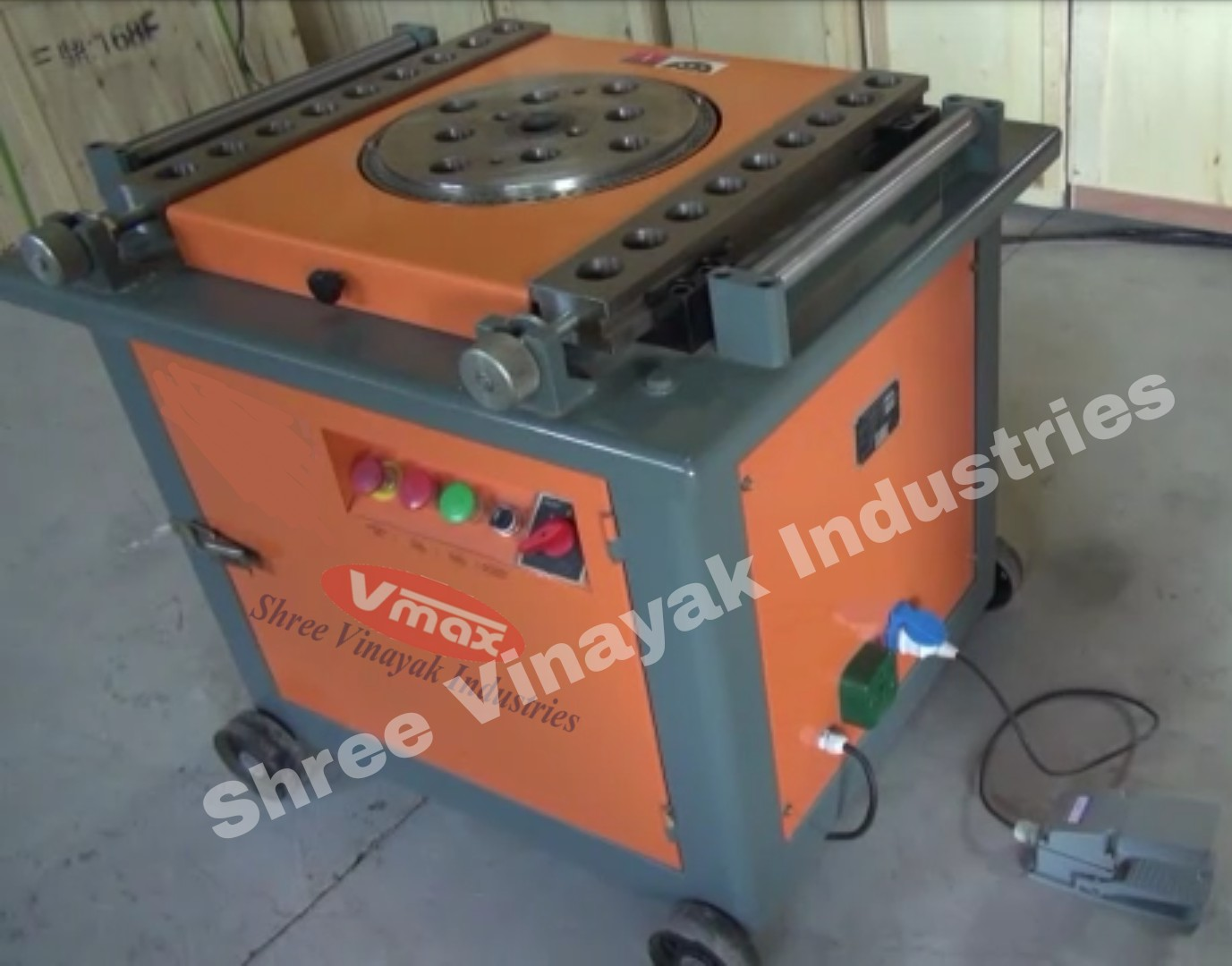 Shree Vinayak industries make Bar bending machine.We are manufacturing Bar bending machine, Rebar bender machine, Rebar bending machine, Bar bender machine , Tmt Bar bending, Tmt Bar bender.Bar bender, Rebar bending machine, Tmt Bar bender machine is used to bend Tmt steel for constuction , Bridges , Building etc. We sell that Bar Bending machine, bar bender machine, Rebar bender machine  in all over India.