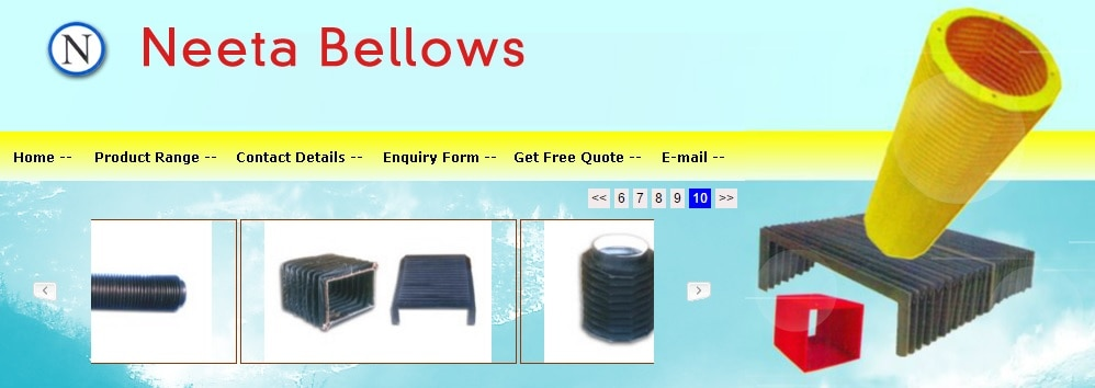 Neeta Bellows is the leading manufacturer, exporter and supplier of a wide range of Rubber Bellows in Mumbai .  Neeta Bellows was established in 1998 and we situated in 108, KK Gupta Industrial Estate, Dr. R.P.Road, Opp.Jawahar Cinema, Mulund (West), Mumbai, Maharashtra, India  400080. The offered rubber products are appreciated for being made in tune with the industry standards. Our product range is inclusive of Industrial Bellows, Expansion Joints, etc. These products find wide usage in electrical automobiles, paper, plastic and cement industries. The offered products are known for their durability, resistance towards wear & tear and seamless finish. We have intercepted a huge infrastructural facility and it is segregated into various departments including production, quality assurance, warehousing and packaging. Our raw materials are procured from an authentic vendor base and the fabricated goods are extensively checked in a well-established quality control facility. We have a huge transportation facility for delivering goods within the stipulated time period. Our professionals are dexterous and are dedicated towards the growth of the organization. We are exporting our product mainly in UAE Country.  Our product range given below such as. #PTFEBellows  #GlassFabricBellows  #RectangularBellows  #SquareBellows  #CircularBellows  #NitrileRubberBellows  #OctagonalBellows  #SteamBellows  #CircularRubberBellows  #IndustrialRubberBellows  #RoundShapeBellows  #RubberBellows  #SquareRubberBellows  #MetalCladdedBellows  #OctagonalBellows  #IndustrialPTFE Bellows  #RubberCoatedFabricBellows  #PTFE FlexibleBellows  #LeatherBellows  #HexagonalBellows  #CanvasBellows  #EPDM RubberBellows  #SpringLoadedBellows  #RexineBellows  #SpringLoadedBellows  #AutomotiveLeatherBellows  #RectangularBellows  #IndustriesBellows  #RubberExpansionBellows  #SiliconeCoatedGlassFabricBellows  #HeavyDutyRubberBellows  #HypalonRubberBellows  #ButylRubberBellows  #Hexagonal Bellows  #RubberCoatedFabricBellows  #CircularRubberBellows  #RoundShapeBellows  #CircularBellows  #SquareBellows  #RectangularBellows  #NylonPlastPolyesterBellows  #IndustriesBellows  #BusDuctBellows  #PVC Bellows  #C TypeBellows #Fabric Bellows    For more details visit :   http://www.neetaenterprises.com/    or    http://www.tradeindia.com/Seller-2118325-NEETA-BELLOWS    or    http://www.bellowsindia.com/    or    http://www.bellowsmanufacturer.in/   or   http://tradedeal.co.in/Mumbai/Neeta-Bellows  or  http://www.bellowsmanufacturer.in/company-profile.html