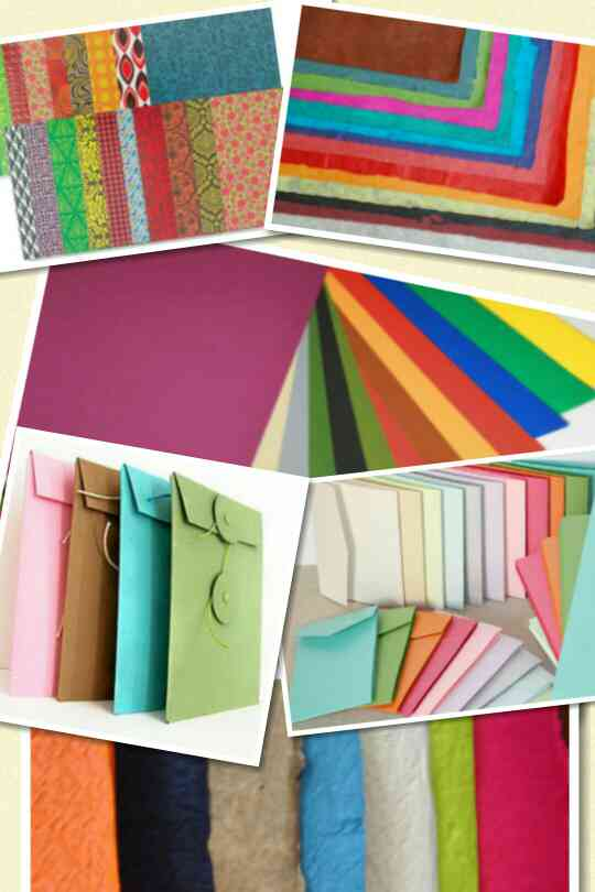Handmade made paper for hand crafts of different colors, varieties, sizes and designs. We are manufacturers of best quality of handmade paper bags and handmade paper products