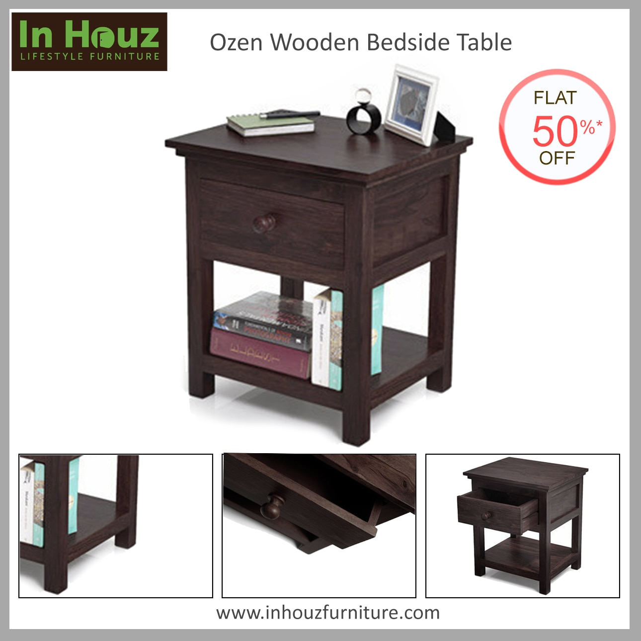 Complement your bedroom furniture with our bedside table.  #BedsideTable #BedsideTableDesign #BedsideTableOnline #BedsideTableOnlineIndia #BedroomFurniture #SolidwoodBedside #BedCabinets #InHouz #InHouzFurniture #SolidwoodFurniture #OnlineFurnitureShoppingInHyderabad  Pick your favourite now www.inhouzfurniture.com