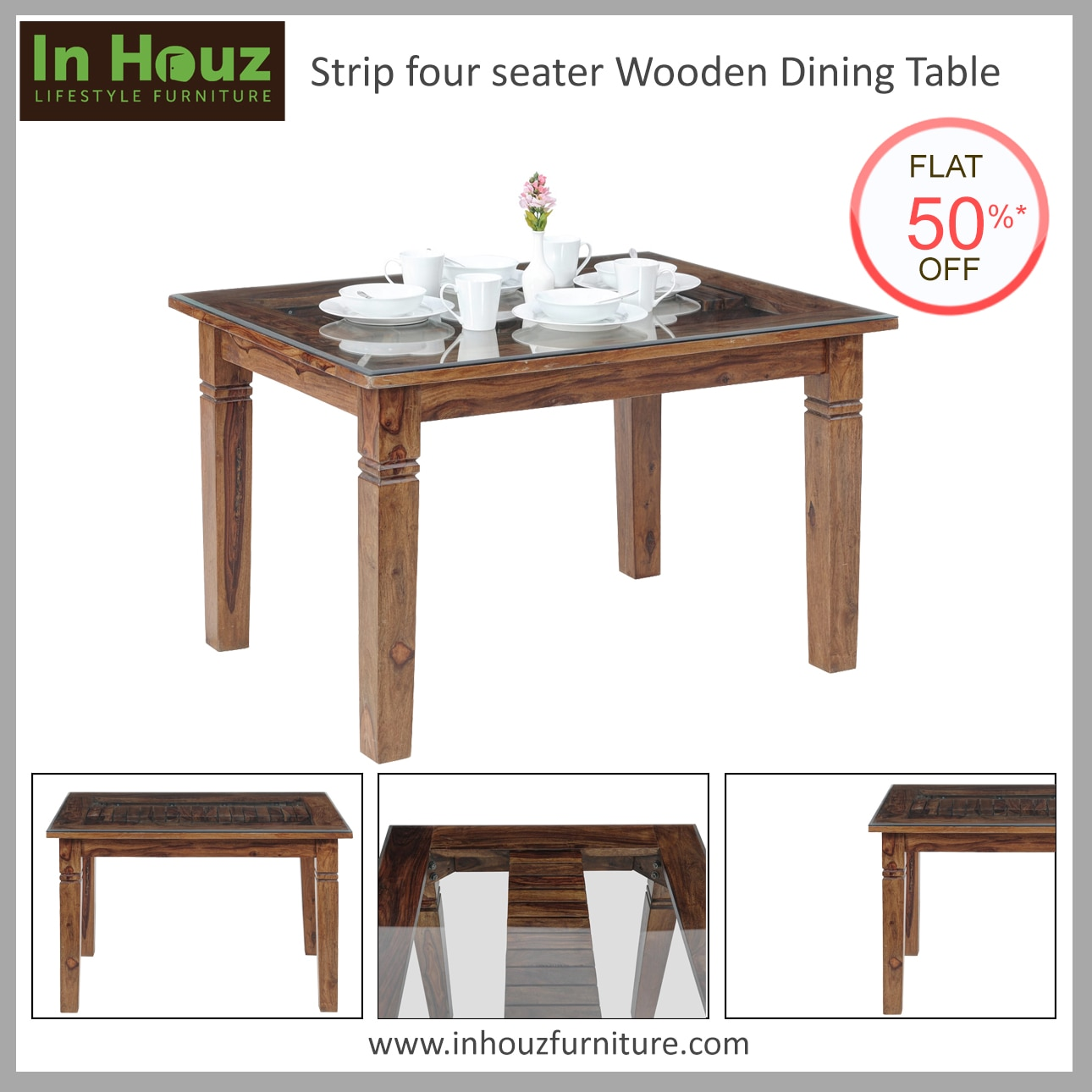 With a gorgeous finish and simple design, this Four-Seater Dining Table is a perfect fit for all homes.  #DiningTable #OnlineDiningTables #SheeshamWoodDiningTable  #OnlineFurnitureSale #DiningRoomFurniture #FourSeaterDiningTable #DiningSetDesign #BestFurnitureWebsitesInIndia #Inhouz #InhouzFurniture #BuyFurnitureOnlineInMumbai  Shop now at www.inhouzfurniture.com
