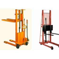 Hydraulic Stacker Supplier In Andheri We have an exclusive range of Hydraulic Stacker offering to our esteemed patrons at competitive price range. These offered stacker are extensively used for lifting and storing of pallets and heavy materials in various factories, industries and warehouses. This offered product is designed and developed utilizing better-quality raw material and sophisticated technology in tune with set industrial guidelines. Owing to latest designs, sturdiness, rigid construction and high durability, the offered product is renowned by our patrons. Moreover, the offered product is popular for its cost effectiveness, rapid delivery and precise dimensions.