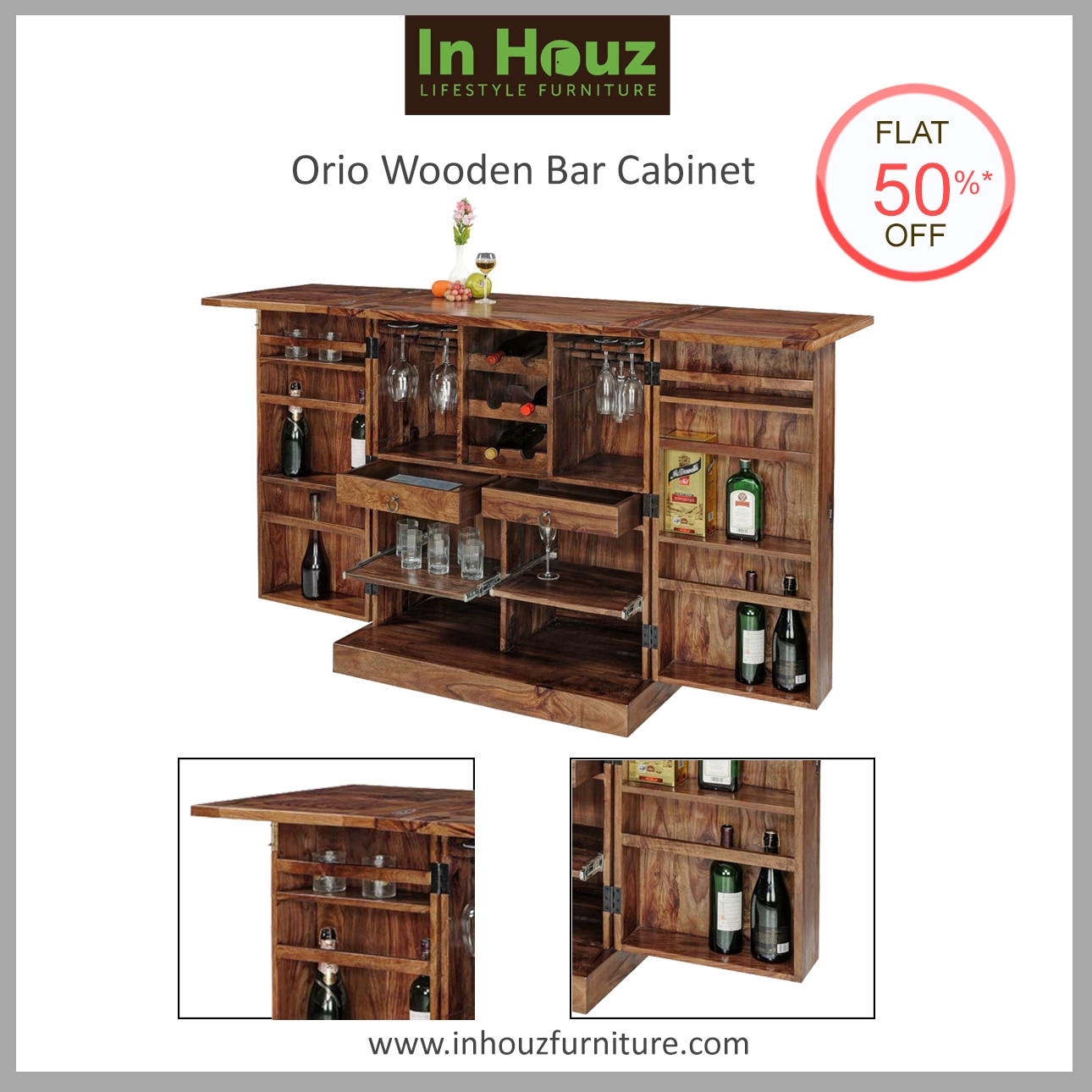 Bring Home Bar Cabinets from In Houz Furniture to serve in Style. The elegant finish & sophisticated craft will perfectly define your class.  #WoodenBarCabinet #BarCabinetDesigns #BarCabinetIndia #BarCabinetDesignsForSale #BarCabinetOnlineInIndia #SheeshamWoodBarCabinet #SolidwoodBarCabinet #Furniture For Sale #BarUnitDesigns #SolidwoodBarUnit #FurnitureManufacturersInIndia #Custom-madeFurnitureInHyderabad  View More Designs at www.inhouzfurniture.com