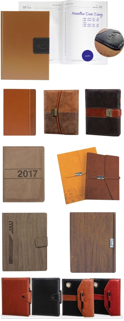 With the New year around the corner, diaries.notebooks or journals are one of the most preferred corporate gifting options. Since diaries are a utility product and have various different options in material and sizes they are an excellent corporate gift. These can also be personalized as per the client logo or hardbound diaries can be made as per client artwork. Various options for the outside cover are available like leather, leatherette, hardbound or eco- friendly material can be used as per the client brief and requirement.. Unique designs are available in both dated and non dated diaries. Various colours and textures make the new year diary an attractive gifting product. Innovative diaries like USB Diary and mole skin diaries make awesome gifting options for for this season. Individual names can also be embossed or printed on them. We have various options in diaries and other gifting products that will suit your budget.  To view more new year diaries and gifting products you can visit our website - www.giftthub.com Or call us - 02240129492 For any queries you can mail us at - enquiry@giftthub.com or hello@giftthub.com