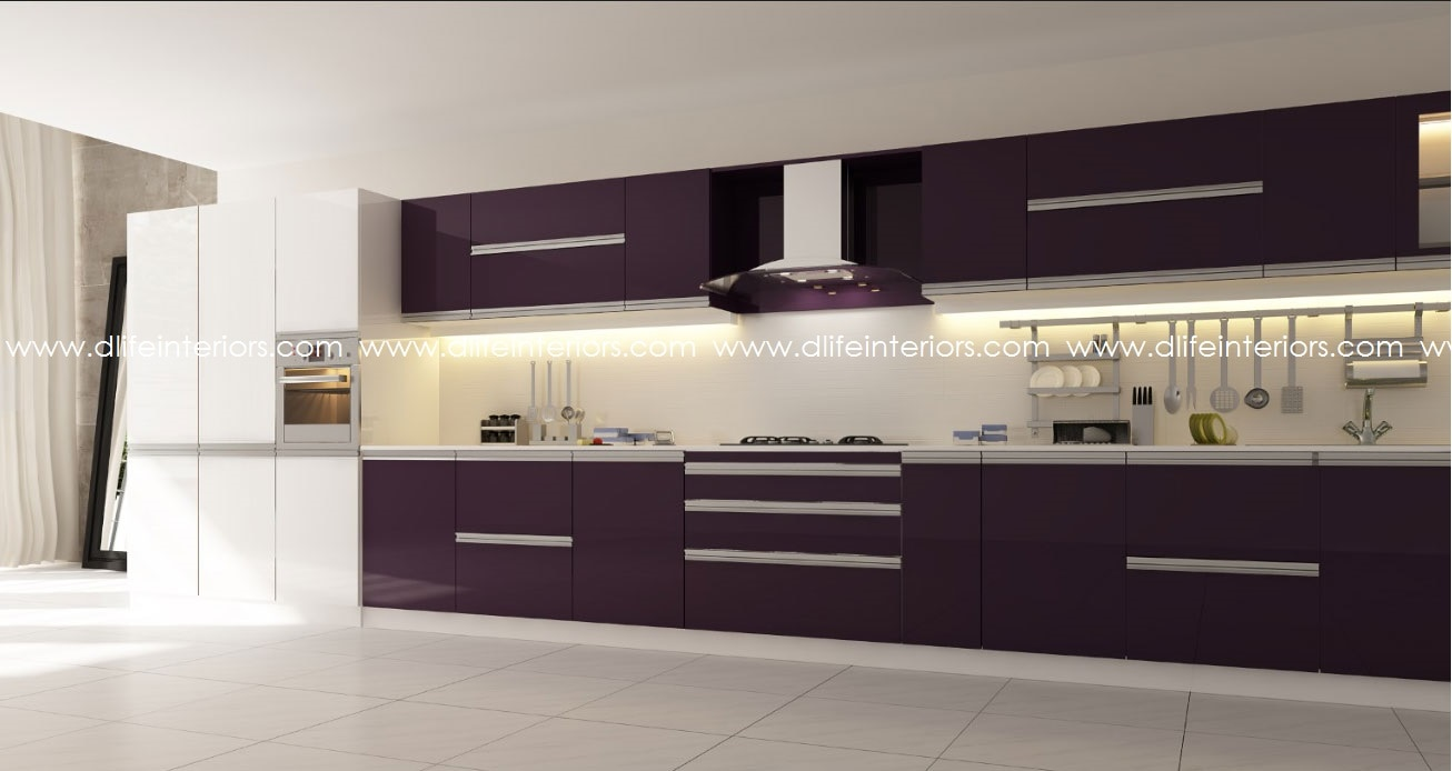 Single wall kitchen design straight line layouts are the for Kitchen cabinet lines