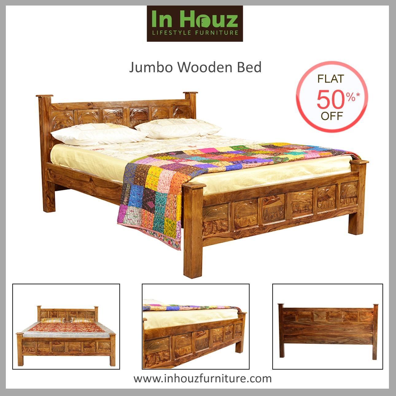 Beautify your Bedroom Decor & give yourself a Kingly feel with our royal & alluring Designs of Double Beds.  #Bedroom #BedroomFurniture #Beds #BedDesign #SheeshamwoodBeds #BedsOnline #SolidwoodBeds #FurnitureShoppingOnline #Inhouz #Inhouzfurniture #SolidwoodBeds #HardwoodBeds #OnlineSolidwoodBeds #BuyFurnitureInHyderabad  Order now www.inhouzfurniture.com