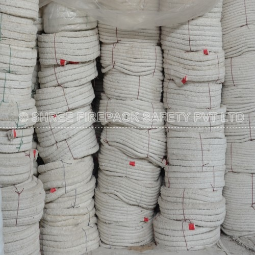 ceramic fiber rope ceramic fiber rope are made from fine quality ceramic yarn braided around in machine to form desired shape and sizes  generally ceramic fiber rope are in ROUND, SQUARE OR TWISTED FORM.  ceramic rope can be cut to desired weight or length basis on request.
