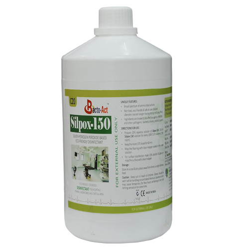 Hydrogen Peroxide with Silver Niterate based Disinfectant.