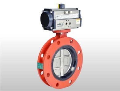 """Pneumatic Double Flange Butterfly Valve – We are involved in giving an extensive range of flanged butterfly valves, which are made by using very high quality raw material. This Double flanged butterfly valves are widely finds its valuable applications in various industry segments.  Size will be start 3"""" to 48"""" which is really highest size in Double Flange Butterfly Valve and aira euro automation can make this kind of valves.   http://www.airaindia.com/pneumatic-rotary-actuator-operated-wafer-type-double-flange-butterfly-valve/"""