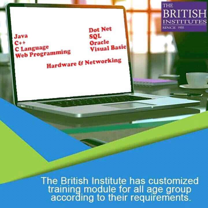 The best computer Courses In Mumbai , Maharastra   The Franchisee Opportunity In Education In Mumbai, Pune, Nashik, Nagpur , Maharashtra   The British Institutes is one of India's leading educators, with focus on diverse segments of education, and across learners of multiple age-groups. Originated from the School of Career, London in association with The British Institute of Commerce, The British Institute of Engineering Technology (BIET), London was established in India in 1935, with a passion for excellence in education, British Institute has shaped careers of lacs of students in its 81 years of existence.  We Offer Following Courses   Computer Training Institutes for Java  Computer Hardware Training Institutes  Computer Training Institutes for Microsoft Excel Advanced Computer Training Institutes for Adobe Photoshop Language Computer Training Institutes for Web Designing Computer Training Institutes for MS Excel   JustDial us at 9594222299