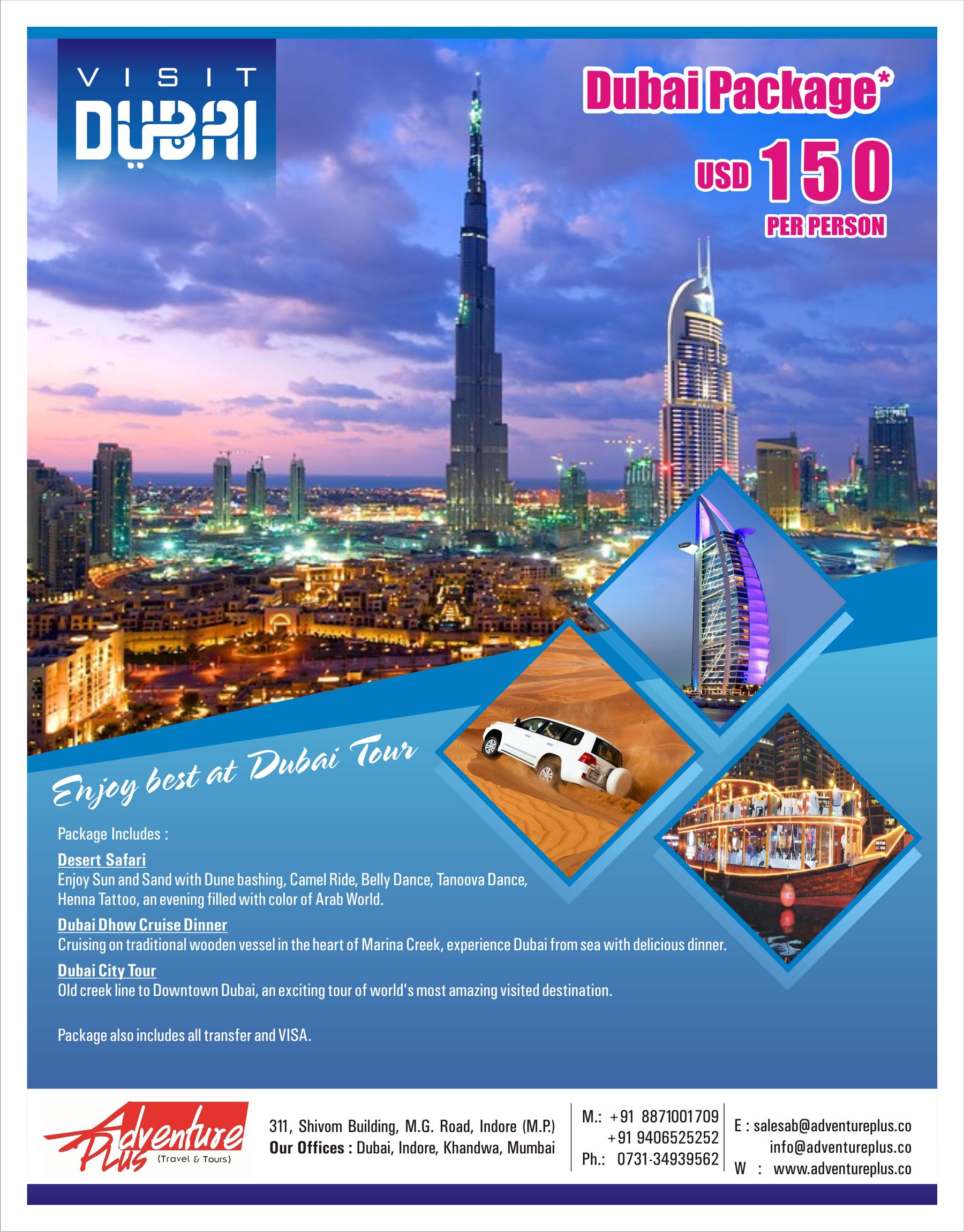 Dubai Package on amazing rates.......  best bubai package.......