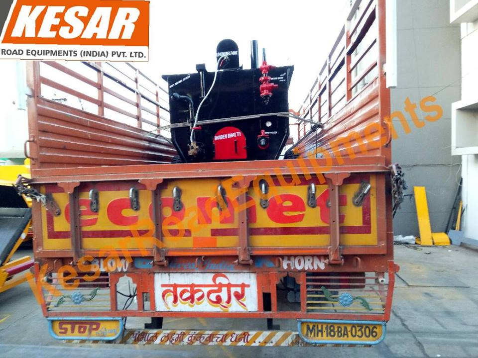 Our Company dispatched Bitumen_Emulsion_Sprayer with Heavy Compressor For Road Dust Cleaning At Maharashtra , India Kesar Road Equipments www.kesarequipments.com Mr.DipakChaudhary - 9825322472