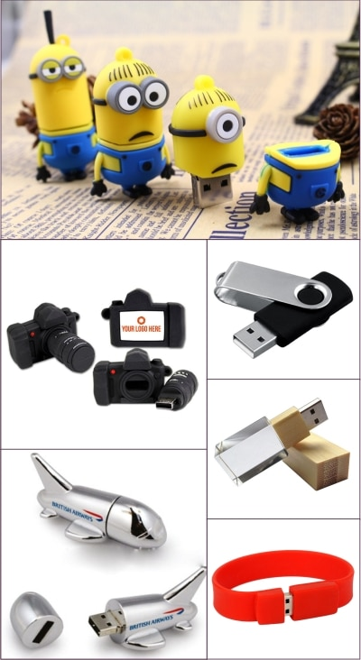 Pendrives are one gifting option that can never go out of trend. Giftt Hub brings to you a wide variety of different shapes and finishes in pen drives. One can also choose the capacity of the pen drives from 8 G.B, 16G.B and 32 G.B Different shapes like aeroplane shape pen drive, robot shape pen drive, car shape pendrive, sand timer shape pendrive, key shape pendrive, house key shape pendrive, message in a bottle shape pendrive, wristband pendrive and many more.  The most preferred pen drive by the corporates is the credit card shape pen drive, since it can be branded on both sides. It is as slim as a credit card and can be easily slipped into your wallet. The L.E.D crystal pendrive is a very appealing pen drive and can be customized with the client logo as well.  At Giftt Hub we also customize the pendrives as per client brief and artwork.  So what are you waiting for ? call us for bulk queries and get your company branded pen drives at best prices. We can also help you load data and provide you with customized boxes.  You can view our entire range of products at www.giftthub.com