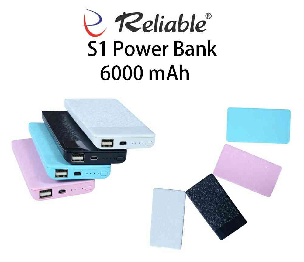 Reliable S1 Power Bank 6000 mAh Best Quality Polymer Battery