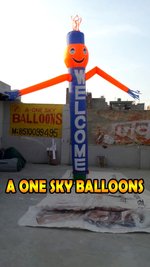 A One Sky Balloons - Air Balloon Manufacture in Noida  This for use as welcome gate sides welcome for people   for more details call us or visit website