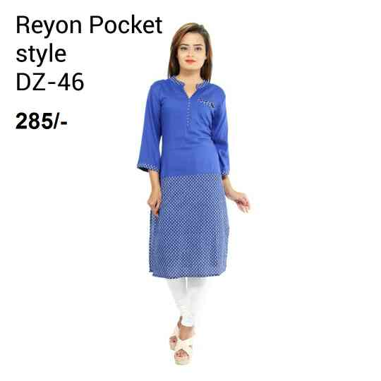 Rayon pocket style manufactur in india