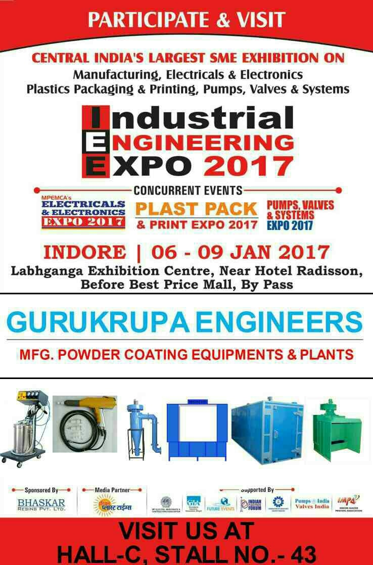 Central India's Largest SME Exhibition Industrial Engineering Expo 2017 Starts from Tomorrow
