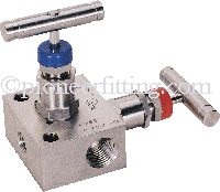 Pipe To Pipe Mounting Manufacturer In India:  Pioneer 2 valve manifolds pipe to pipe (R), Pipe to Flange (T) valves are designed for connecting system impulse line & transmitters. These manifold consist of two valve configuration which allows for easy isolation, calibration, block and bleed for gauges, pressure switches and static pressure transmitting instruments. These manifolds are rugged in construction to withstand high pressures and temperatures. The manifolds are rated for pressures as high as 6000 PSI at 200oF or 4000 PSI at 500oF. with PTFE Packing. For a Higher Temperatures Grafoil Packing is used. These valve manifolds combine the functions of a tee, calibration valve, isolation valve and all tubing and fittings into a single compact unit thus reducing number of fittings and space required for installation. Data Sheet :- Type	 Model No Pipe to Pipe	 2 VM - 8 - SS - R Pipe to Flange	 2 VM - 8 - SS - T Flange to Flange	 2 VM - 8 - SS - H Pipe to Pipe Remote Mount	 2 VM - 8 - SS - RM