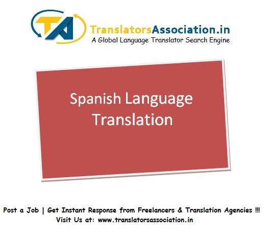 English to Spanish Translation in Delhi  Spanish Translator of all Domain are listed on our website . Post your translation query.  Get instant response from expert.  http://www.translatorsassociation.in/postnow/post.php