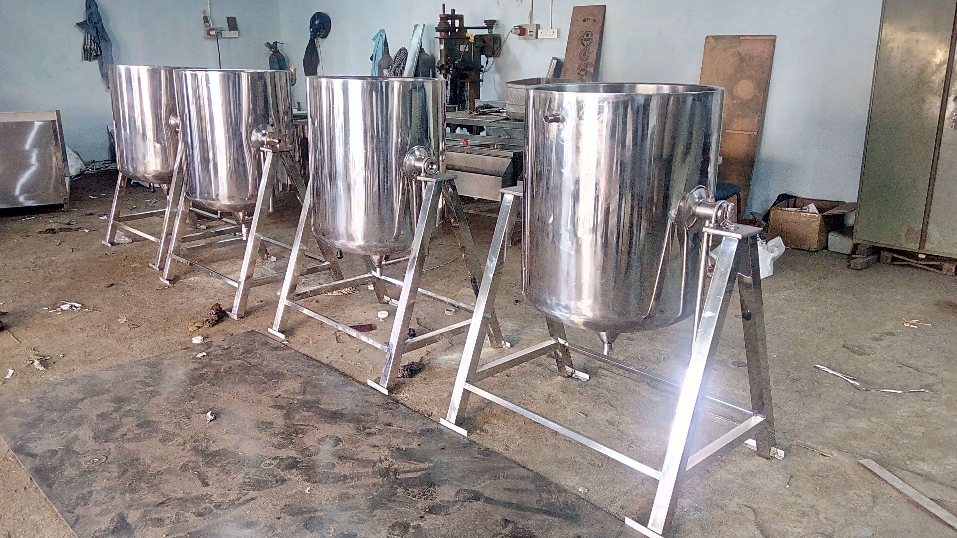 SS Milk Cooker Exported To Jordan