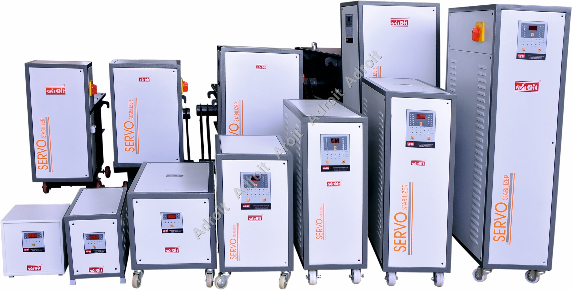 "Servo Stabilizer Manufacturer In Coimbatore  We are of the leading manufacturers and supplier of oil cooled voltage stabilizers (micro processor based) that helps in preventing data loss caused by outrages & brown outs. This comes with computer grade line conditioning with isolation technique and the output is fully isolated by double conversion & isolation transformer. Moreover, we also offer our oil cooled servo stabilizers with remote monitoring & control through SNPB and Internet. We are a leading manufacturer and supplier of Servo Stabilizers from Coimbatore, Karnataka, Andra pradesh , kerala and South India    Parameter	Three Phase Capacity	3 KVA to 1000 KVA Operating Frequency	47 - 53Hz Input Voltage Range	Range I :340 - 465V Range II :295 - 465V Range III :240 -465V Output Voltage	400 V 1% (Adjustable) Output Volts Regulation	1% Type of Cooling	Oil Cooled Working Temperature	0 to 50° C Insulation	Class ""B"" Output Wave	Form True Reproduction of Input Wave Form Distortion	Nil Efficiency	98% at Nominal Load Correction Rate	25/35/60 V per second Relative Humidity	60% Effect of Load Power Factor	Nil Environment	Indoor & out door Servo Stabilizer Manufacturer"