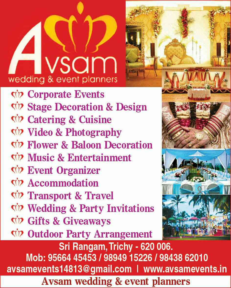 AVSAM EVENTS in Trichy; Wedding Event Planners Trichy,Event ...