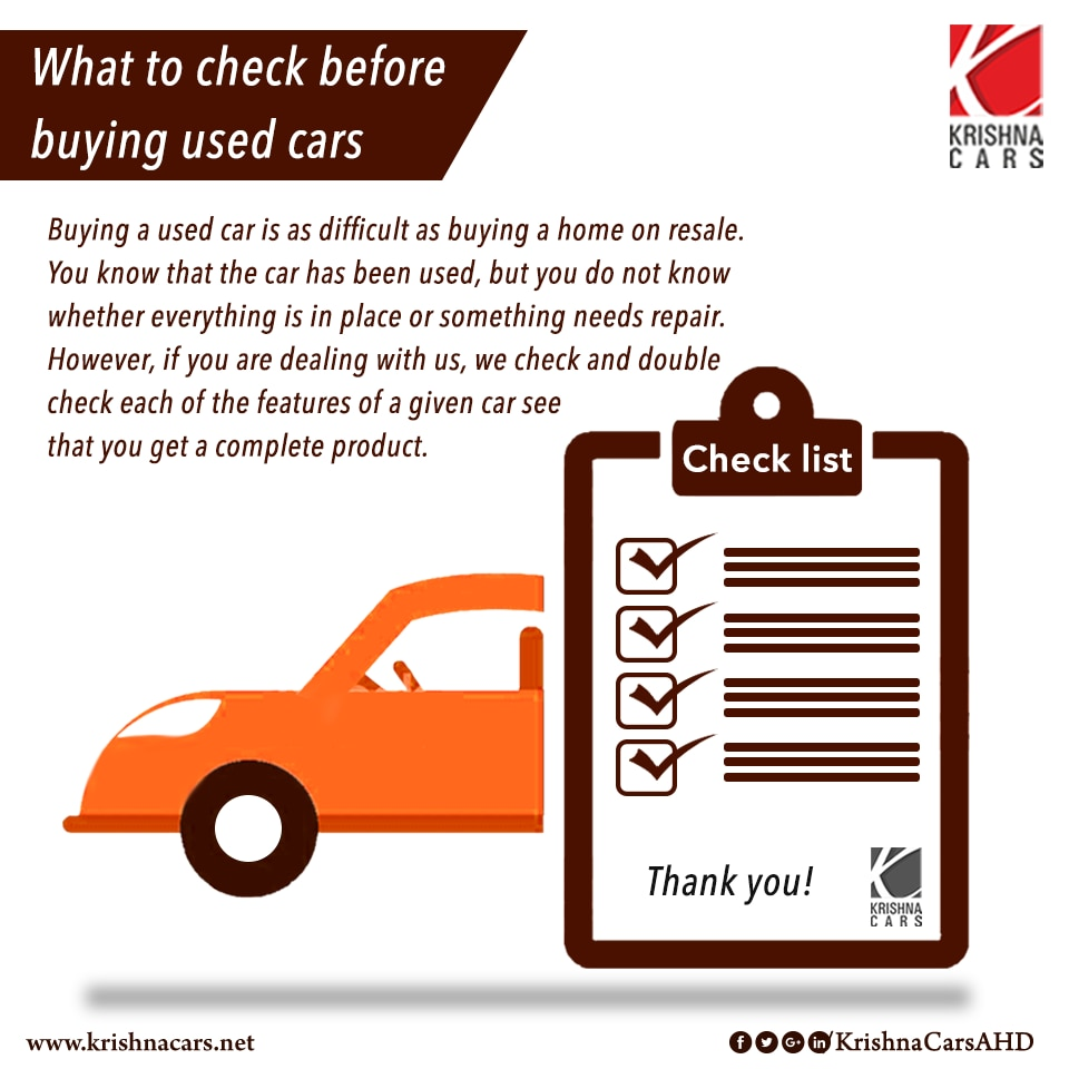 What to check before buying used cars
