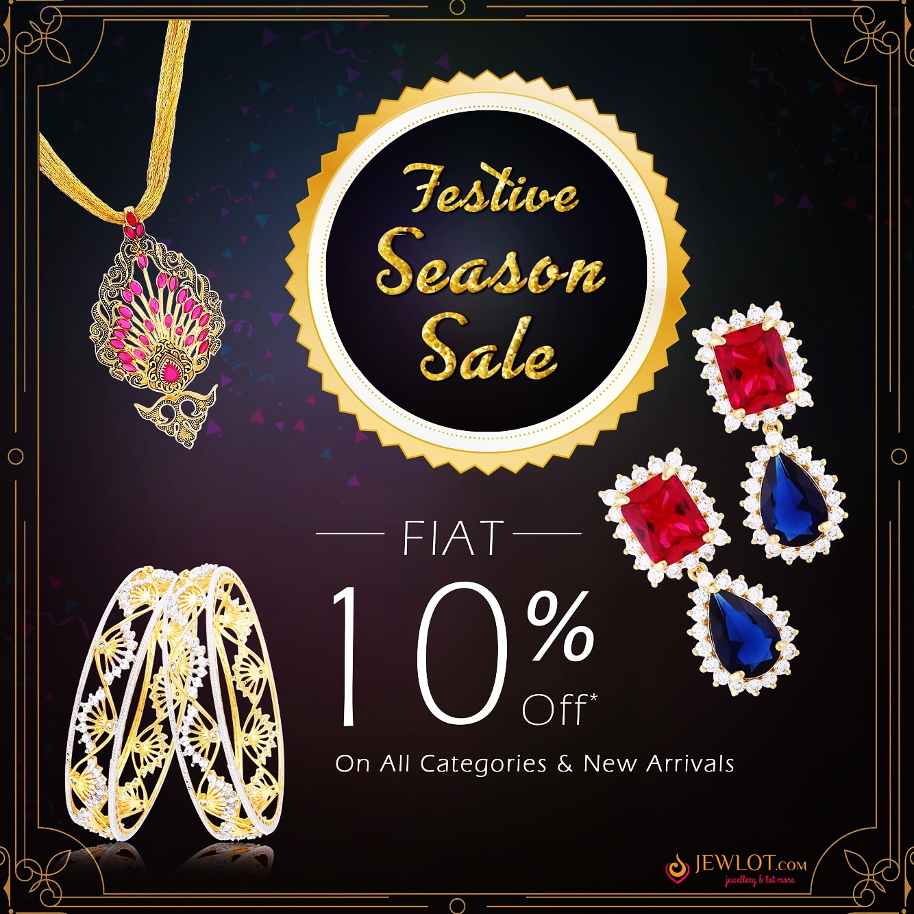 Festive Season SALE, Flat 10% Off On Your Favourite Jewellery♥ Worth The Wait!! Grab It Fast!! Coupon Code