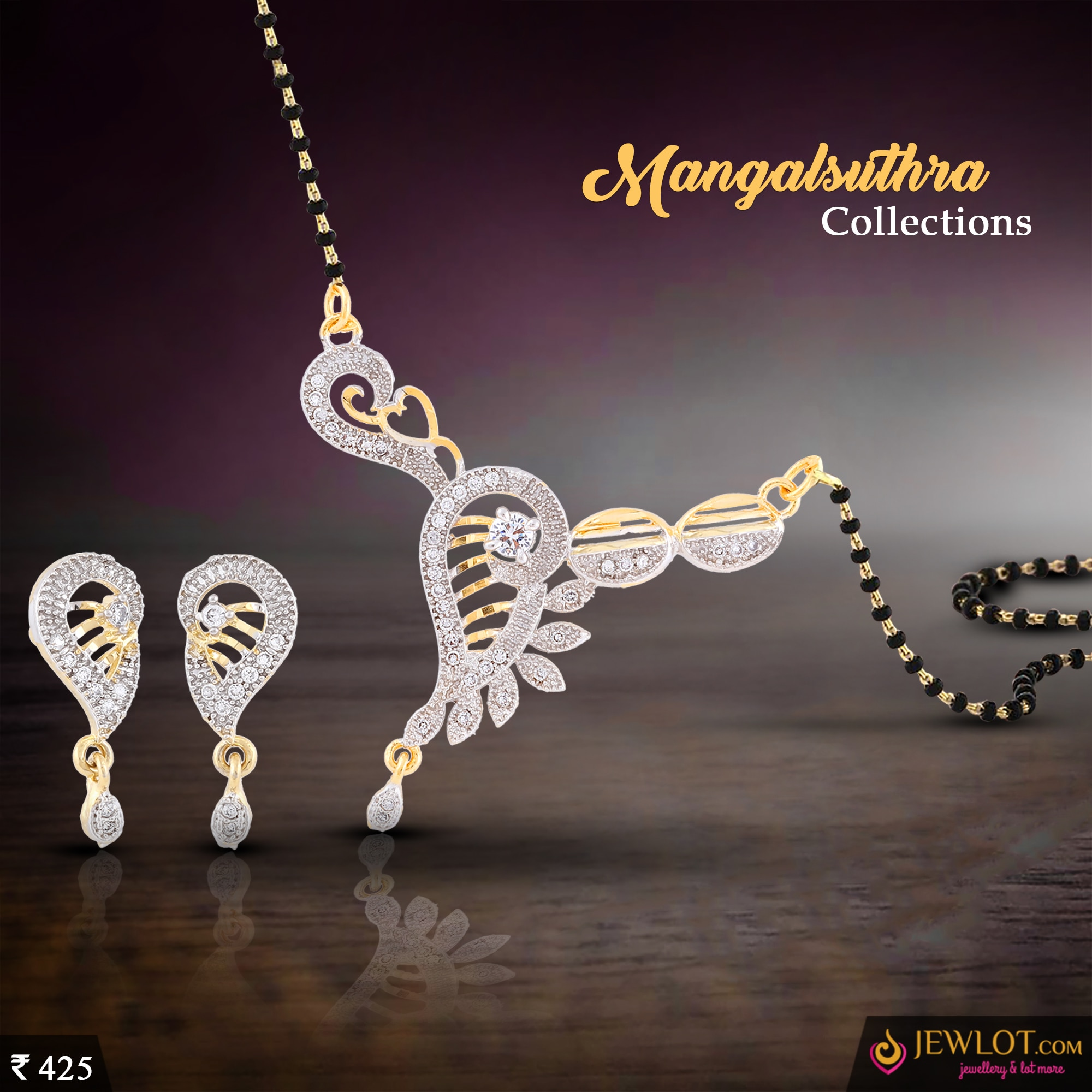 Together Forever!!  Exclusive American Diamond Mangalsuthra Collections!! #jewlot #mangalsuthra #easyreturns #wedding shop @http://bit.ly/2iTIUom see more @http://bit.ly/2jNDGJ7