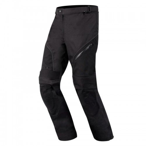 ALPINESTARS AST-1 WATERPROOF RIDING PANTS  The combination of practicality and performance offered by Alpinestars AST-1 Waterproof Pants allows the rider to concentrate on enjoying the road, no matter what the weather brings. The pre-curved leg construction and articulated knee design enhance comfort and mobility, while extra protection is afforded by strategically placed ballistic nylon reinforcements.  Features:  ·         600 Denier fabric with PU coating and water repellingtreatment.  ·         Stretch panels above the knees for superior flexibility.  ·         Waterproof and breathable design with nylon lining and taped seams.  ·         Vented mesh panels.  ·         Waist and leg adjustment.  ·         1200D poly fabric reinforcements on the seat and knees with PU coating and water repelling treatment.  ·         Reflective piping for increased visibility.  ·         PU injected 3D Astars logos.  ·         Knee protector compartment with foam padding (CE certified Bionic SX Knee Protector available as an accessory).