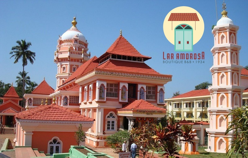 When In Goa do visit this beautiful temple . A temple surrounded by an interesting historical backdrop..  So book your home stay at our Portuguese villa Lar Amorosa at www.laramorosa.com