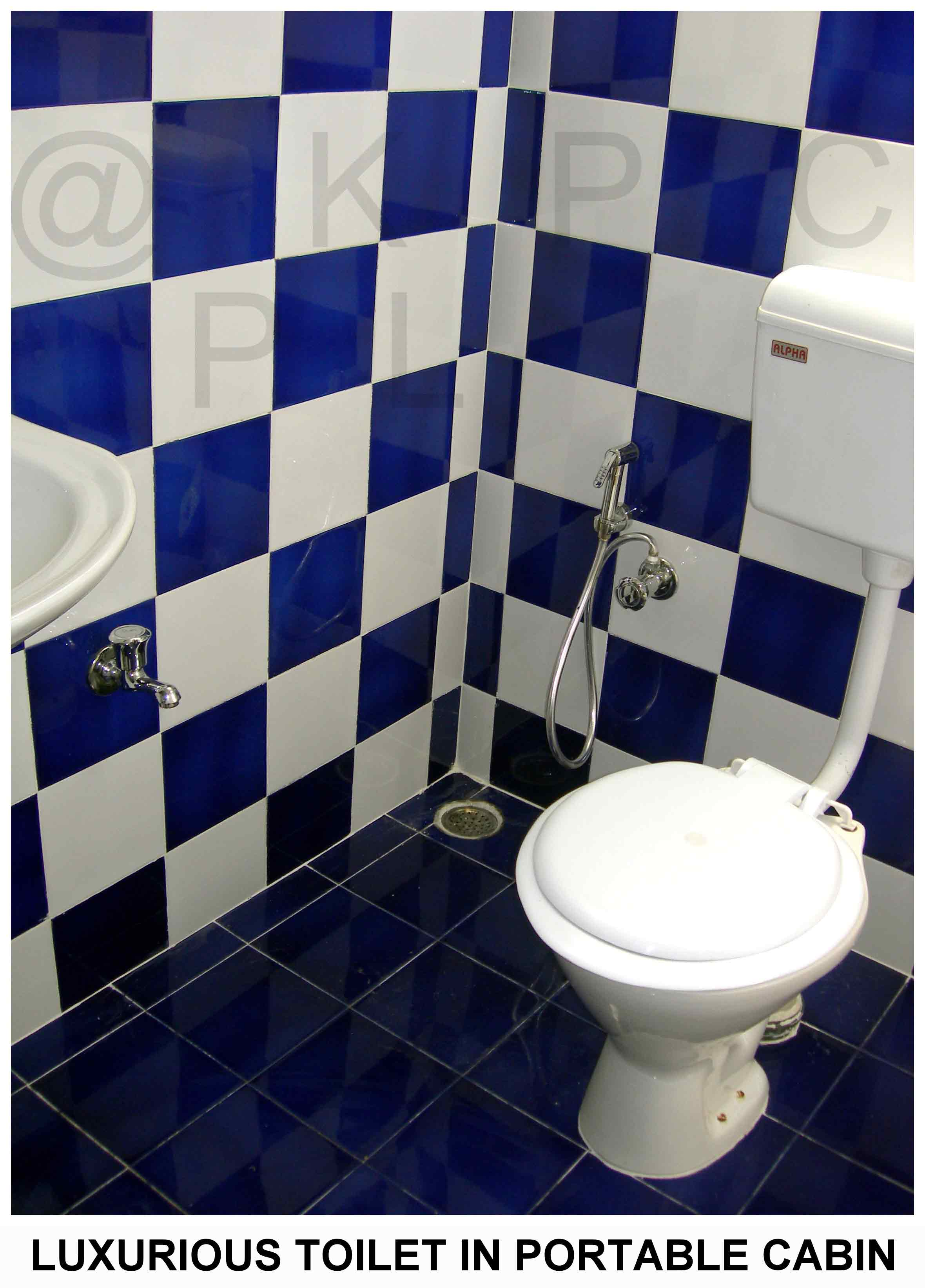GRP Portable Toilet Block.    GRP Portable Toilet Block Description:  We offer the high quality of GRP Portable Toilet Block. Portable Toilet Blocks are manufactured by us with good quality which can sustain any weather even with low GRP cubicle is one of the traditional / conventional products which is widely used in Construction sites due to its light weight structure and low pricing and ready availability with water & waste tanks. These blocks are provided with necessary amenities such as wash basin, soap dish, extra water tap, tube light, exhaust fan, waterproof switch, GRP step, air vent etc. and an outlet which also allows you to connect with external water supplies and waste outlets. If Electricity, water and waste connection are provided externally, it would be an instant solution for all sites. Owing to its top-notch strength and durability features, this structure is widely demanded by our clients.    GRP Portable Toilet Block. Features:  •Good strength & load bearing capacity.  •Hygienic & spacious.  •Low maintenance.