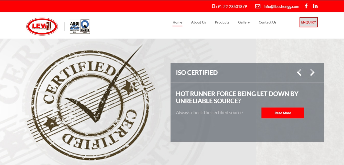 OUR WEB SITE : WWW.LIBESHENGG.COM