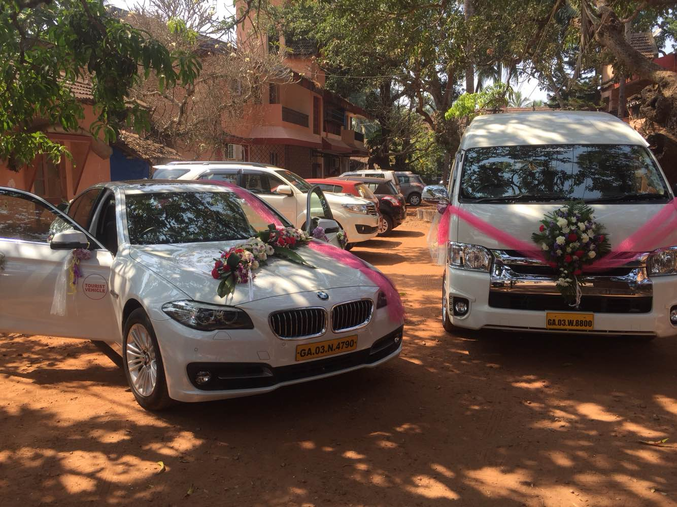 BMW and TOYOTA COMMUTER for rent in Goa Call @9822101598