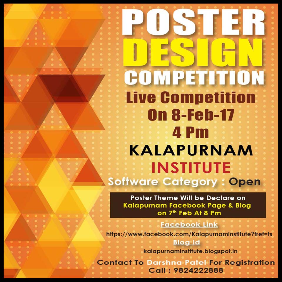 Poster design for coaching institute - Institute For Peace Secular Studies Poster Design Live Competition Kala Means Art And Purnam Means Perfection And Kalapurnam Means Perfection In Art