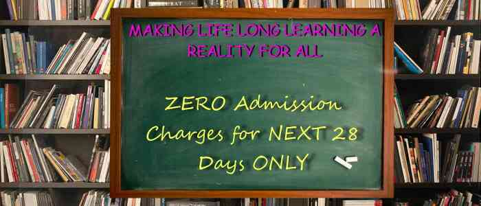 Zero Admission charges for whole month of February..  world's no1 smart classes with india's no1 digital classroom..  campus of over 2 acres  fully AC classrooms.