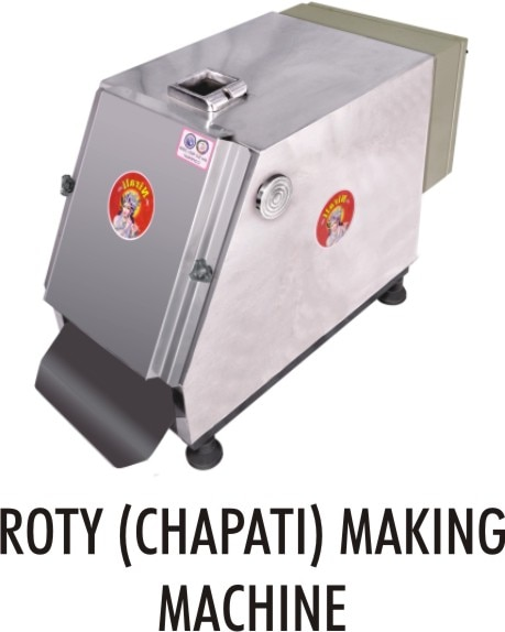 CREATION OF CHAPATI MAKING MACHINE: Please Find Some Detail About Our Machine And It's Parts. Chapati / Roti Making Machine:- · S.s Body · Heating Support – Temperature Controlling System · Single Phase Motor · Small / Movable Machine (size :- 2.5ft X 2ft X 2.5ft) · Capacity 800 - 1000pcs Per Hour
